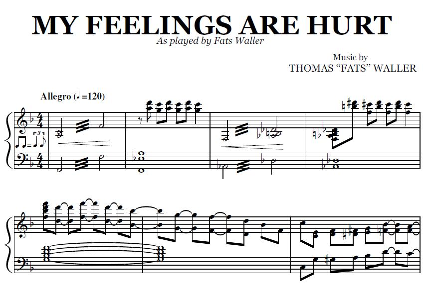 Fats waller my feelings are hurt 1929 recorded in 1929 my feelings are
